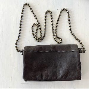FREE PEOPLE •Duet• Charcoal Leather Crossbody